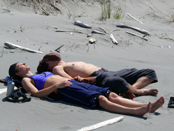 Relaxing ashore - Clayoquot Sound